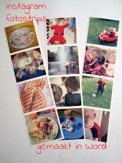 Instagram fotostrips - gemaakt in word