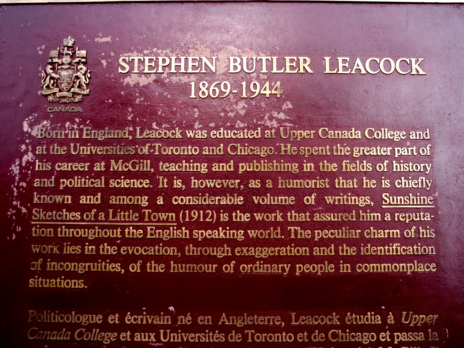 Stephen Leacock: Humour and Humanity