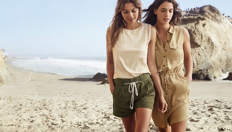 Jessica Hart and Crista Cober for new H&M style update lookbook