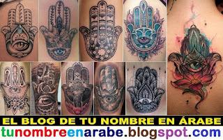 Mejores tatuajes de la mano de Fatima o Jamsa