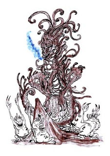 Une représentation de Mnomquah par Clone Artist