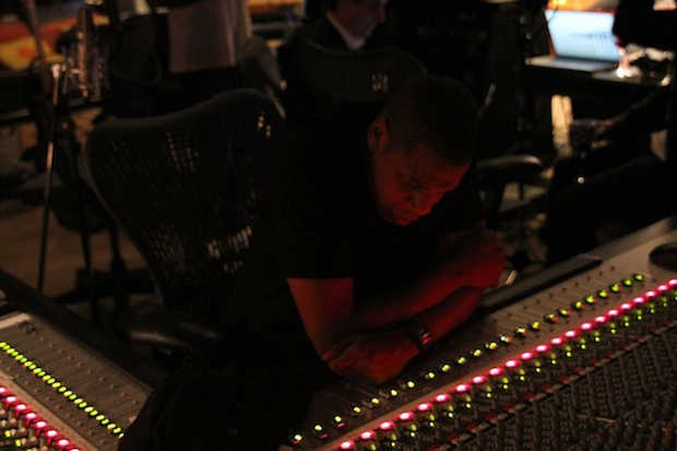 Ever Wonder What A Studio Session With Kanye and Jay-Z Looks