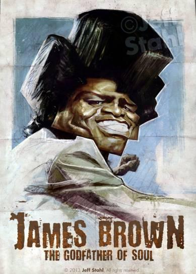 James Brown por Jeff Stahl