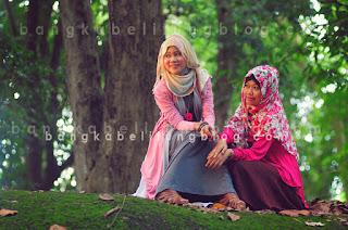 foto model hijaber bangka
