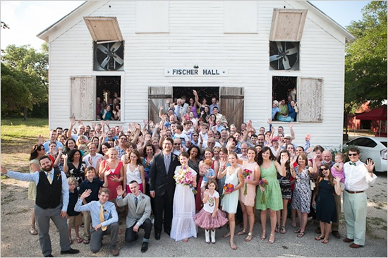 five wedding photos to add to your shot list | a wedding guest group shot