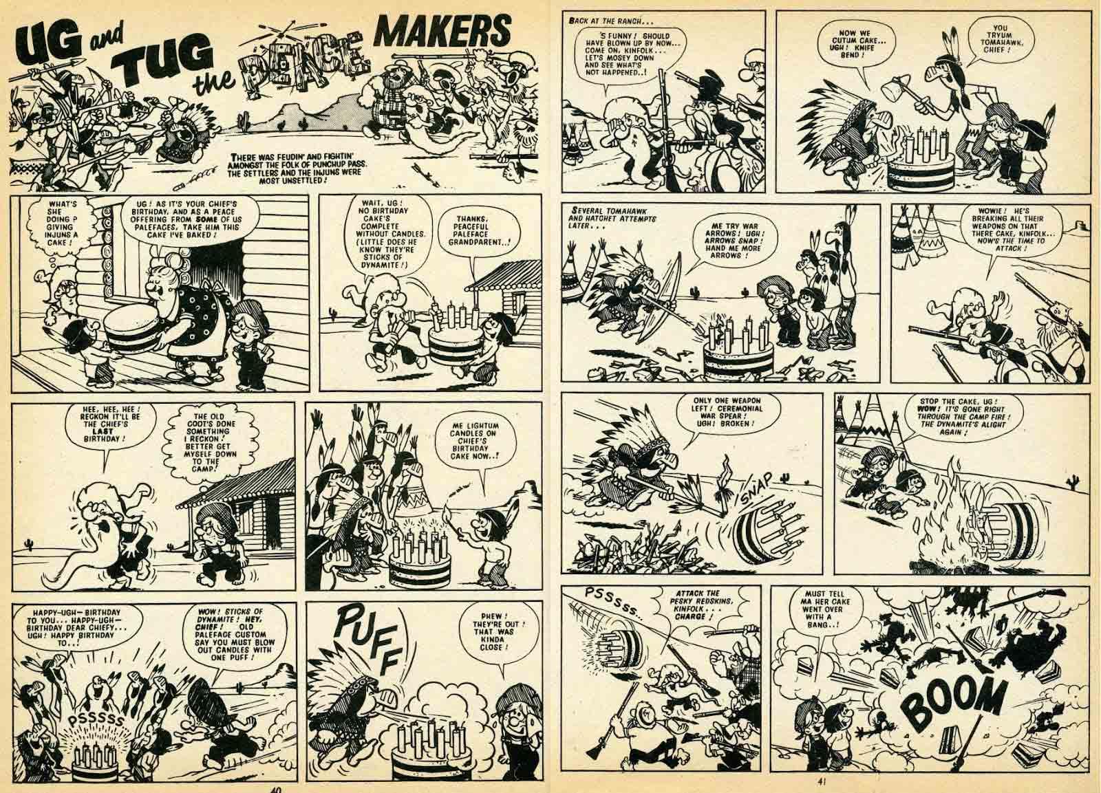 Bonita doble página dibujada por Nadal serie Ug and Tug