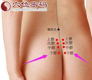 下髎穴位 | 下髎穴痛位置 - 穴道按摩經絡圖解 | Source:xueweitu.iiyun.com