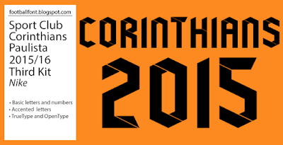 SC Corinthians 2015-2016 Third Kit Font