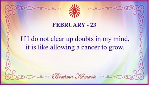 Thought For The Day February 23