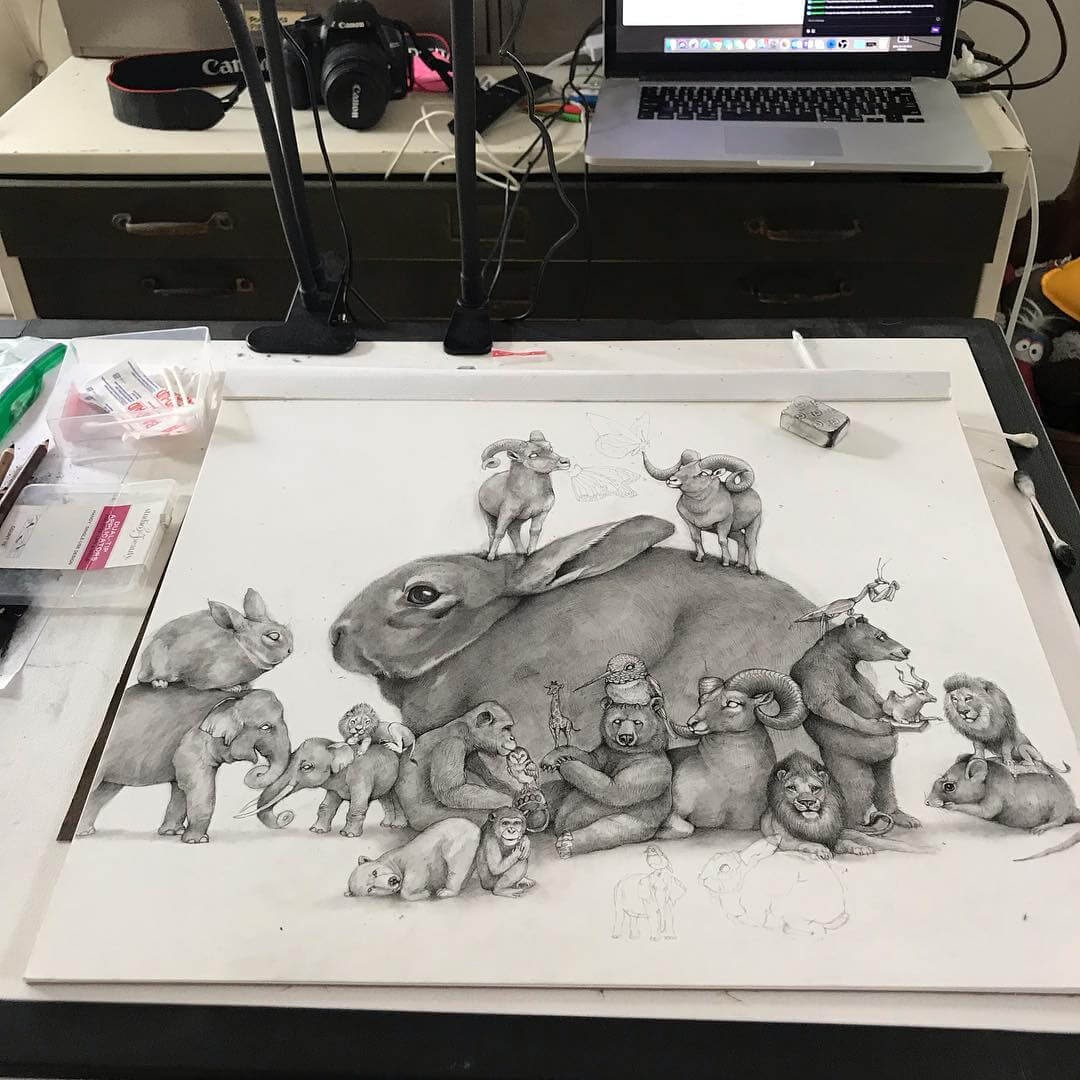 13-Small-and-Very-Large-Surreal-Animal-Drawings-www-designstack-co