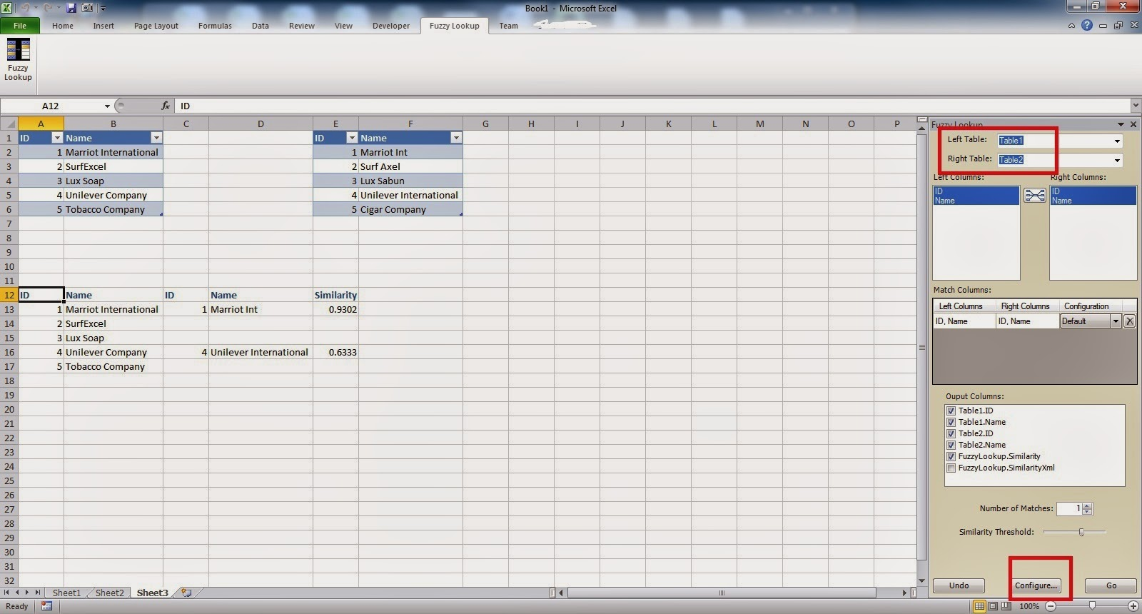 Amiq S Excel Learning Excel Fuzzy Lookup Add In Approximate Data Match