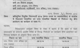 Bihar Secondary and Senior Secondary Teacher Recruitment on Camp