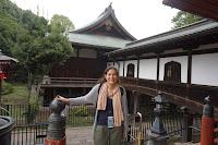 Pili: en uno de los templos del parque Ueno