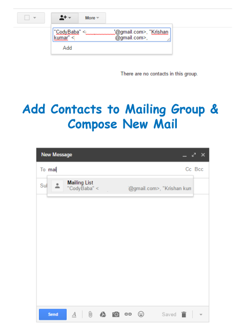 Send Group Email in Gmail