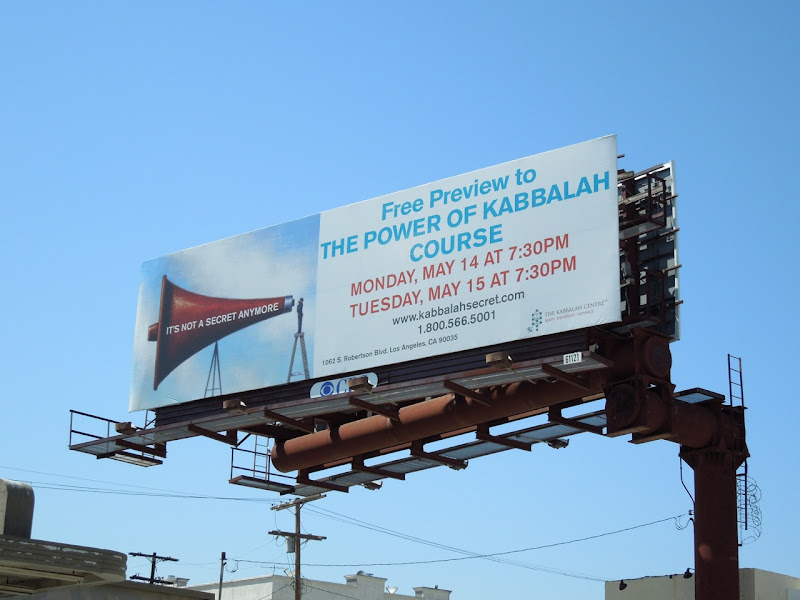 Power of Kabbalah course billboard
