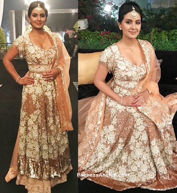Gorgeous Geeta Basra in Manish Malhotra's Outfit