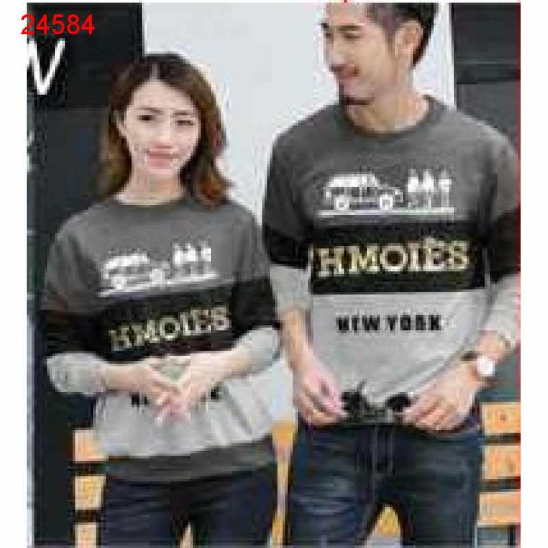 Jual Sweater Couple Sweater Hmoies Abu Tua - 24584