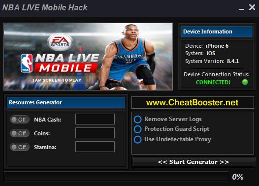 nba mobile hack tool