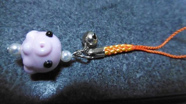 北海道 小樽彩やでトンボ玉体験で作ったトンボ玉(ガラス細工)