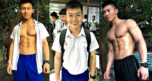 Nam sinh gây bất ngờ sau khi cởi bỏ đồng phục, lộ body 6 múi quyến rũ