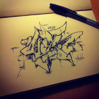 Graffiti Sketch Wildstyle