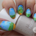 Freehand Yellow Brick Road & Emerald City Nail Art