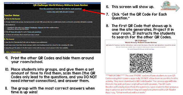 QR codes are a really fun and surprisingly easy tool to use in the classroom. Click through to read my post about how you can review for exams with a QR code scavenger hunt.