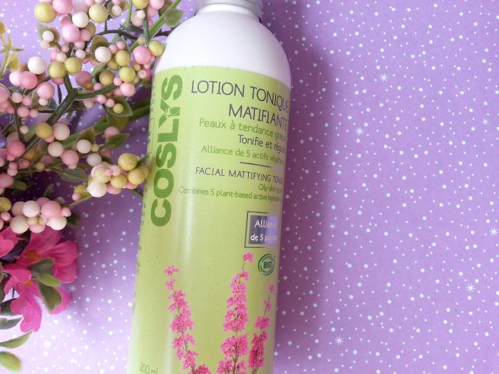 lotion tonique matifiante peaux grasses de coslys