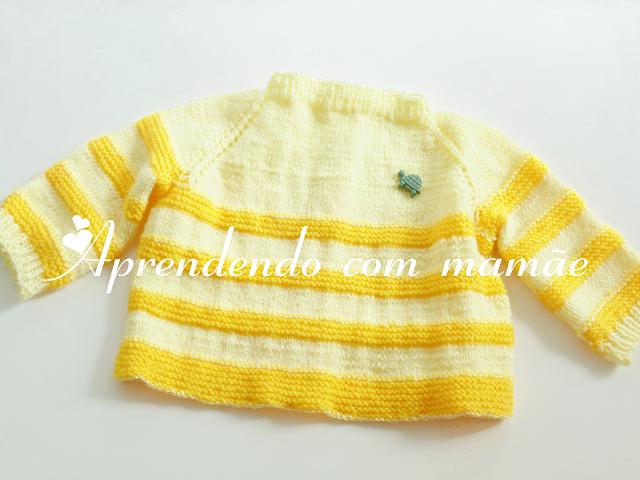 casaquinho de bebê, tricô, Lã Cisne Super Bebê, casaquinho para recém nascido, casaquinho bicolor, criança, mamãe
