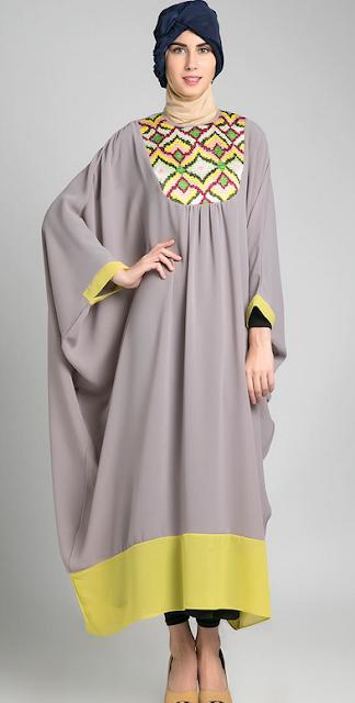 30 Model Baju Muslim Kaftan Remaja Modern Terbaru 2018 Keren