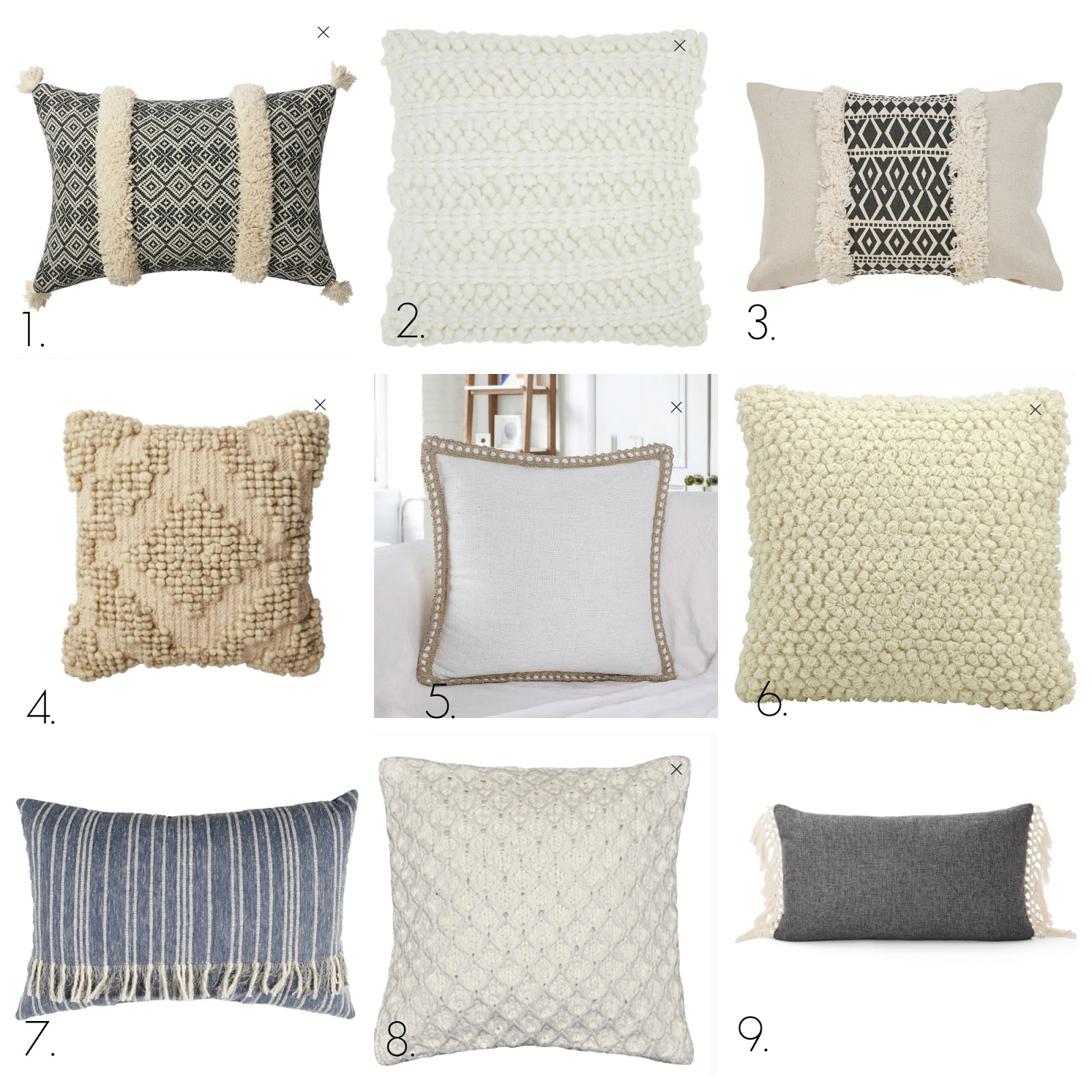 pretty modern pillows from Walmart
