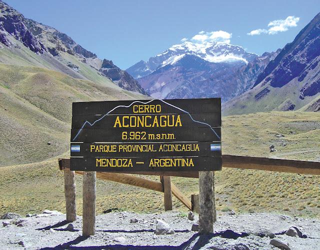 Entrada do Parque Aconcágua em Mendoza, Argentina