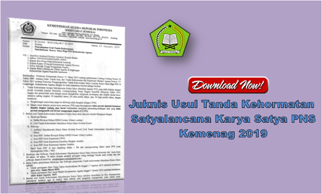 Pedoman Usul Tanda Kehormatan Satyalancana Karya Satya PNS Kemenag 2019
