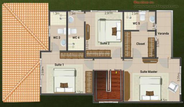 Plano de casa de dos plantas planos de casas gratis y for Plantas arquitectonicas de casas