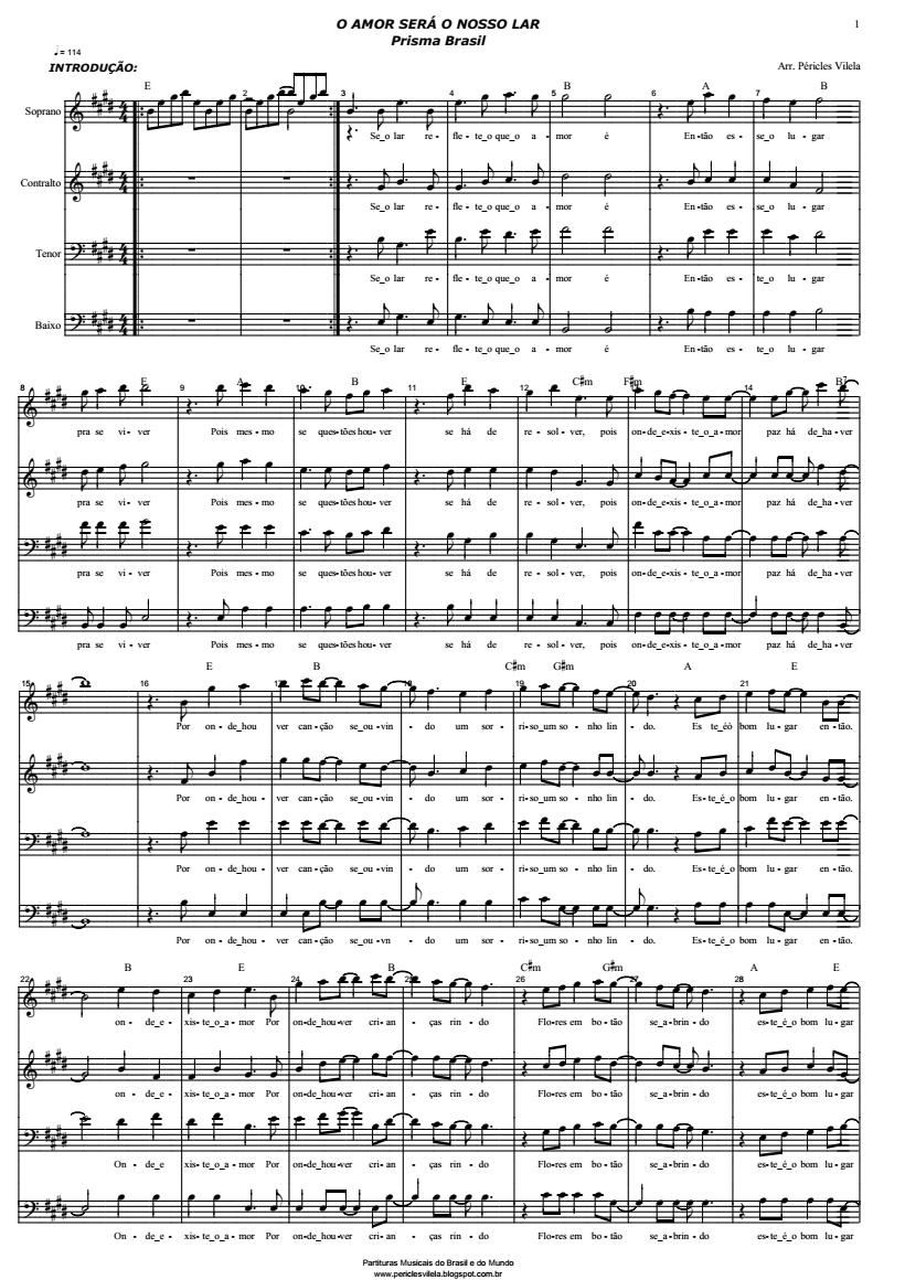 partituras do prisma brasil