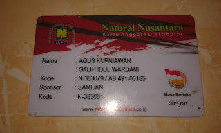 Gambar Kartu Member PT Natural Nusantara