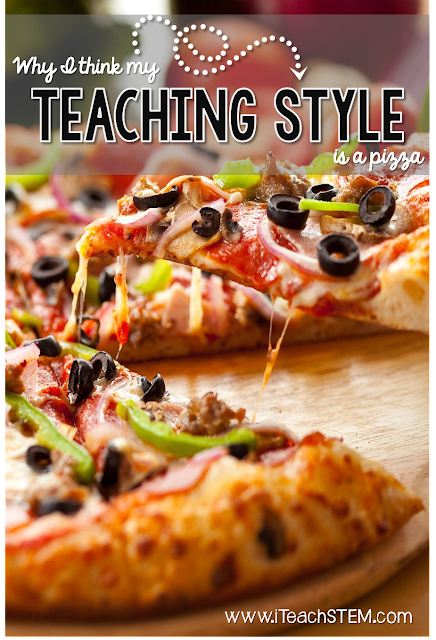 My teaching style metaphor: PIZZA! This is such a fun way to think about what I do as an elementary science teacher. Self-reflection | Humor | Food
