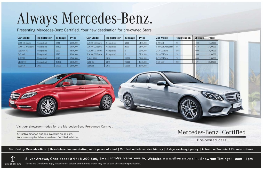 Always Mercedes-Benz | April 2016 discount offer | Festival Offers