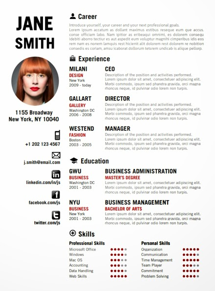 resume templates for jack of all trades