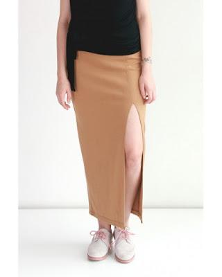Model Rok Span Panjang Belahan Samping