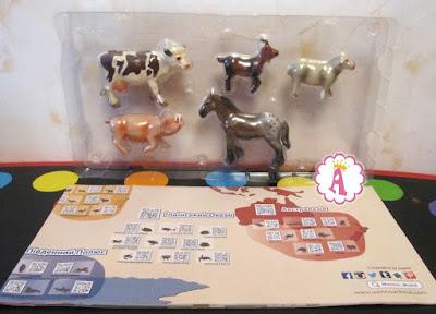 Реалистичные животные с европейской фермы, набор Венно с картой мира