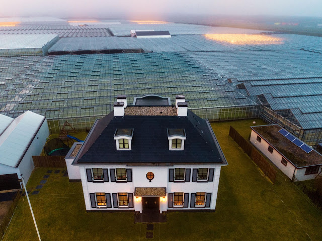 National Geographic/Greenhouses surrounding a Dutch farmer's home