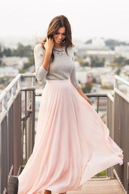 Faldas largas para chicas 2017
