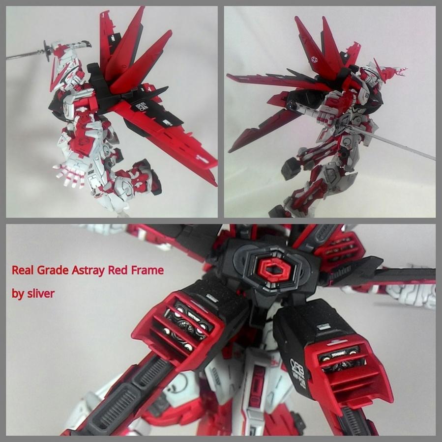 Custom Build Rg 1 144 Gundam Astray Red Frame Flight