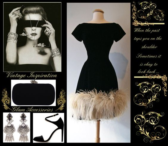 Vintage Glam - Jewels and Feathers www.toyastales.blogspot.com #ToyasTales