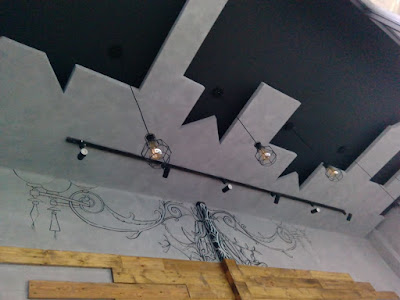 lukis dinding dekoratif gambar hitam putih