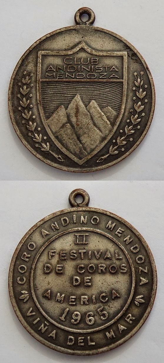 FESTIVAL  DE COROS DE AMERICA 1965 CORO ANDINO MENDOZA
