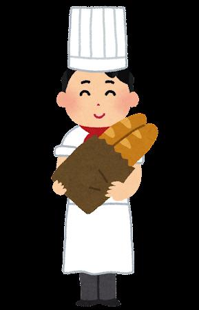 パン屋さんのイラスト(男性)