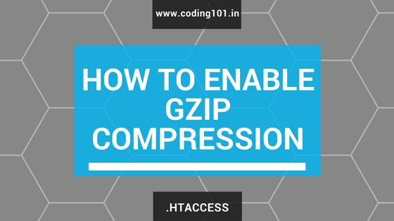 How to Enable gzip compression