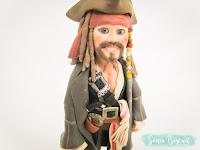 Jack Sparrow Biscuit Topo de Bolo